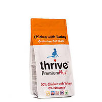 Thrive Premium Plus Chicken Turkey Dry Food Cats -Трайв Премиум Плюс Корм для Кошек Курица Индейка 1,5кг