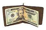 Зажим для денег DNK Leather DNK Зажим пружина-H col.F, фото 3