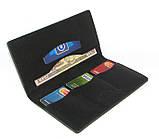 Кошелек портмоне кожаный DNK Leather Big Purse черный, фото 3