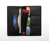 Кошелек портмоне кожаный DNK Leather Big Purse черный, фото 5