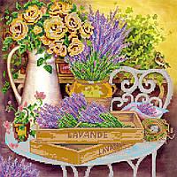 """Схема для вышивки бисером на натуральном художественном холсте """"Цвет лаванды"""""""