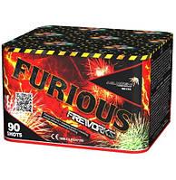 Салют на 90 выстрелов 20 калибр 8 эффектов FURIOUS MC135 Фитиль