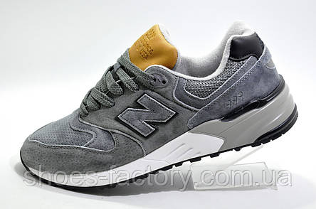 Мужские кроссовки в стиле New Balance 999, Gray\Brown, фото 2