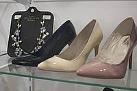 Туфли-лодочки из натурального материала