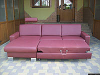 Новий шкіряний диван, розкладний (5312). ДНІПРО