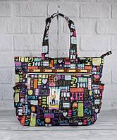 Сумка хозяйственная, шоппер текстильная LeSportsаc 9802-08, фото 1