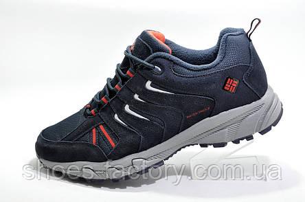 Термо кроссовки в стиле Columbia Waterproof, Dark Blue (Флис), фото 2