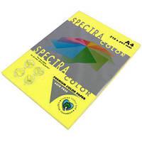 Бумага цветная А4 500 листов, 75 г/м2 Spectra, желтый неон №363