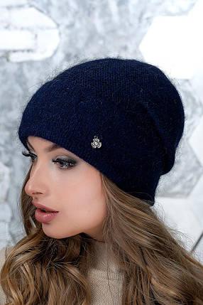 Шапка женская Flirt Пенелопа One Size синяя, фото 2