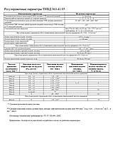 Регулировочные параметры ТНВД 363-41.05