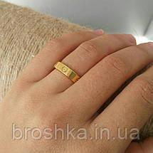 Тонкое кольцо Cartier Love в лимонной позолоте без камней, фото 2