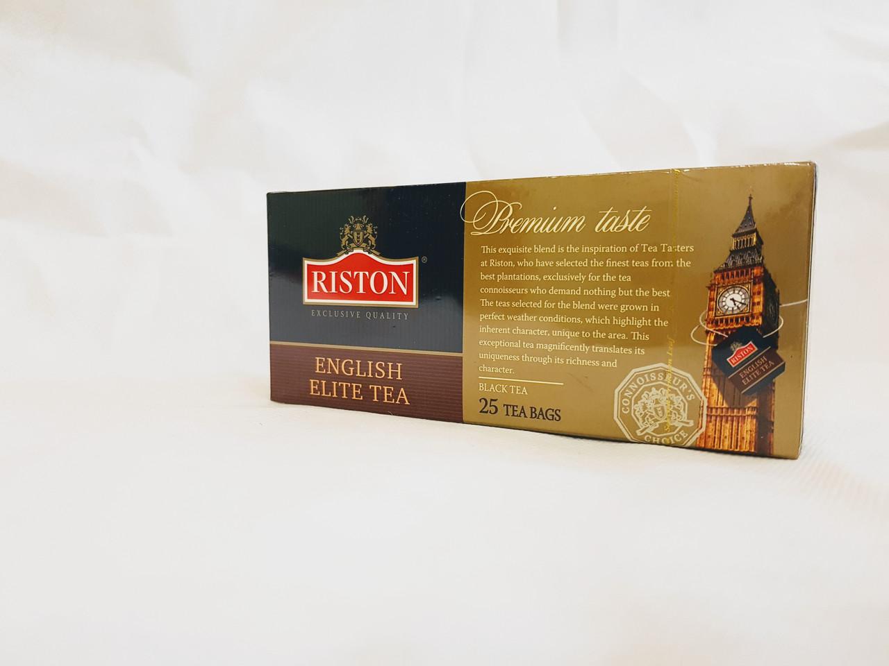 Чай черный Ристон Английский Элитный с бергамотом пакетированный 25 х 2 г