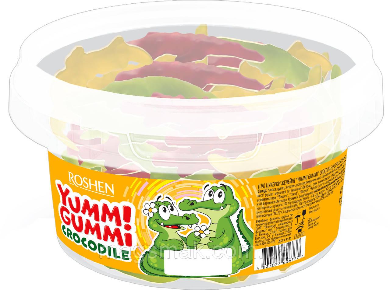 Конфеты жевательные  Yummi Gummi Crocodile Рошен 1.5 кг