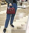 Сумка в стиле Хермес Келли 25см | PU-кожа арт.0356 Бордовый, фото 6