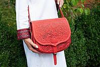 Кожаная женская сумка, сумка через плечо, фото 1