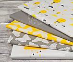 """Лоскут ткани """"Облака с дождиком"""" желто-оранжевого цвета № 889, размер 33*80 см, фото 9"""