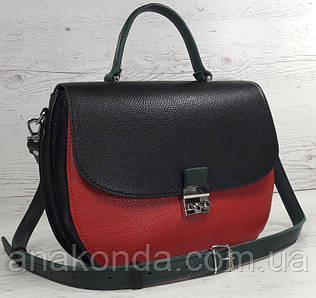 581-к Натуральная кожа Сумка женская красная Кожаная сумка черная красная кожаная сумка кожаная красная черная
