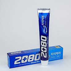 Отбеливающая зубная паста  Aekyung 2080 Advance Blue Toothpaste Scrub Essence
