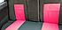 Чехлы сидений ВАЗ 2111, 2112 полиэстер с красными вставками, фото 2