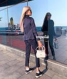 Элегантный легкий женский брючный костюм двойка 3расцв.(42-46р.), фото 7