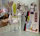 Ручной кухонный погружной блендер ProMotec PM-589 3 в 1 с чашей, фото 6