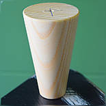 Конусные мебельные ножки деревянные H 100, фото 3