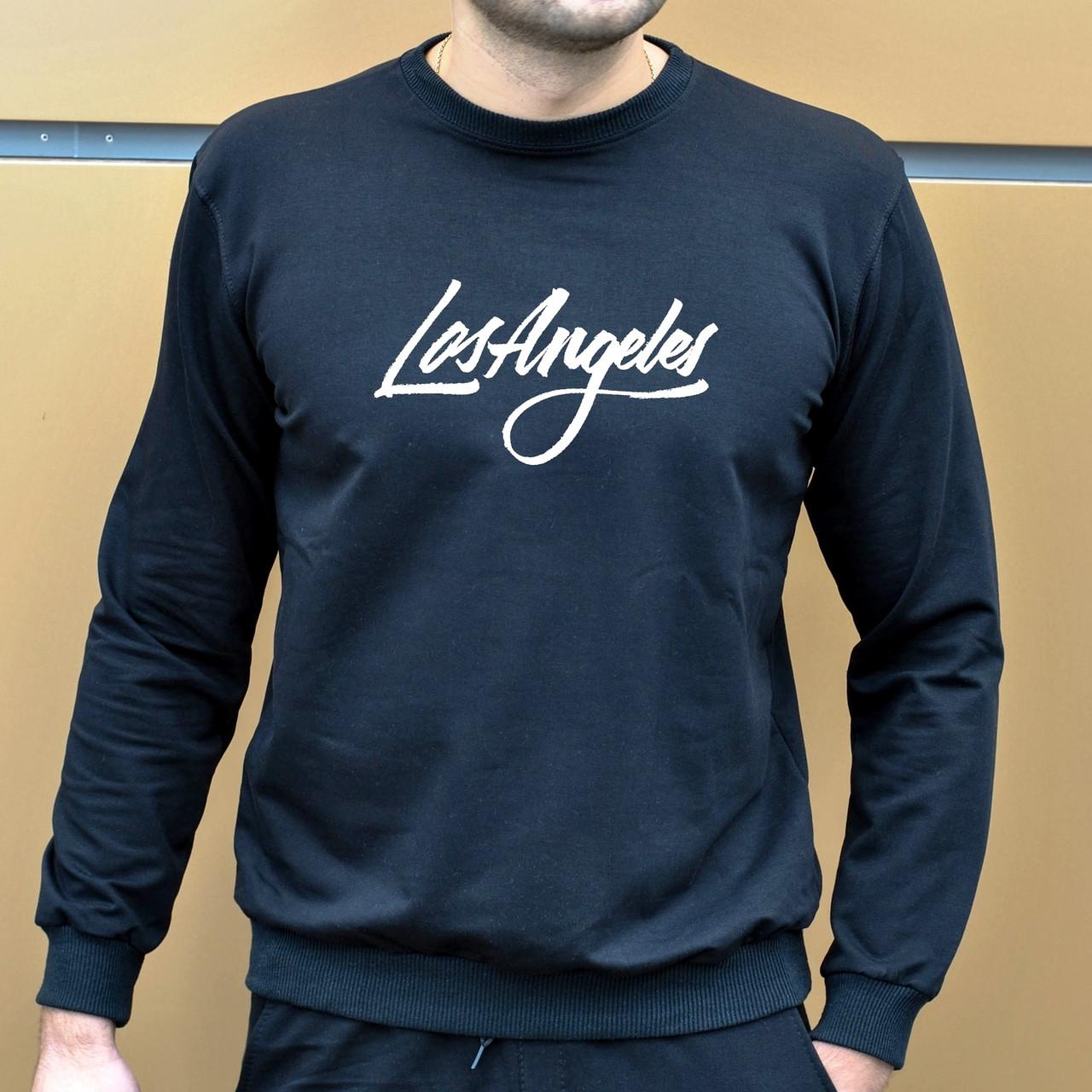 Мужская кофта - Свитшоты Los Angeles черный (утеплен)