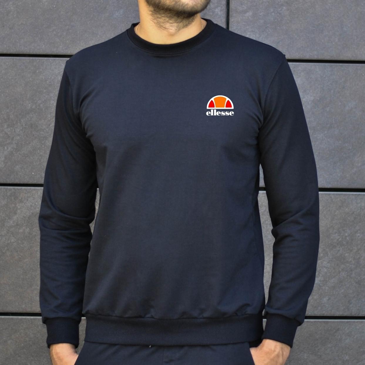 Мужская кофта - Свитшоты в стиле Ellesse черный (утеплен)