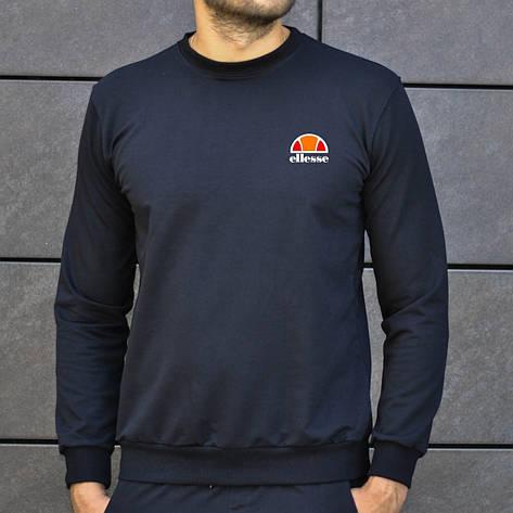 Мужская кофта - Свитшоты в стиле Ellesse черный (утеплен), фото 2