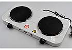 Электроплита настольная WimpeX WX-200А   Двухконфорочная дисковая плита, фото 2