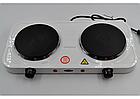 Электроплита настольная WimpeX WX-200А   Двухконфорочная дисковая плита, фото 4