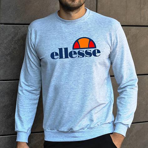 Мужская кофта - Свитшоты в стиле Ellesse серый (утеплен), фото 2
