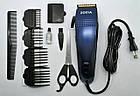 Профессиональная машинка для стрижки волос Rozia HQ-257 с насадками, ножницами, расческой, фото 3