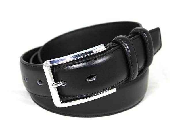 Ремень кожаный шириной 3.5см Alon p83045 125 см мужской, женский черный