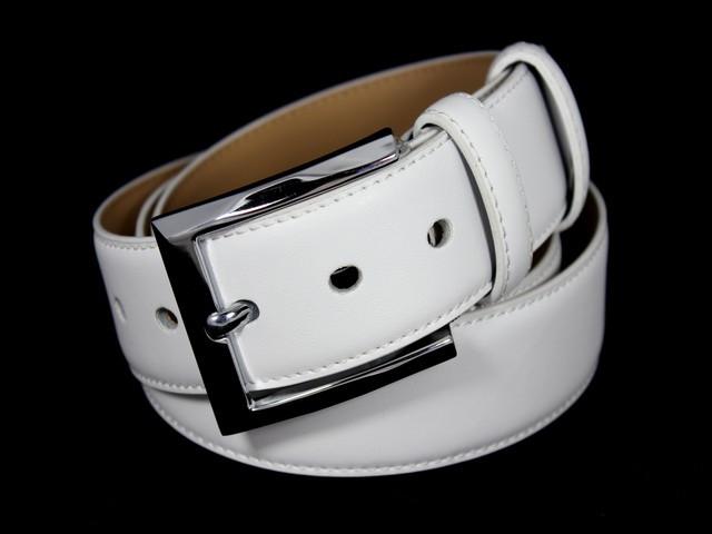 Ремень брючный шириной 4 см Alon E400616 120 см унисекс Белый