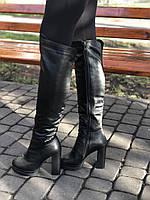 Ботфорты на высоком каблуке с натуральной кожи 40 размер