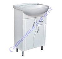 Тумба с умывальником и выдвижным ящиком на ножках в ванную Эпика-60 Т3/1