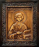 """Икона из натурального дерева «Святой Великомученик Пантелеймон Целитель"""""""