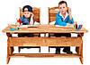 Парта растишка с ящиками  для двоих детей.(ширина 120см) + 2 стульчика. Mobler
