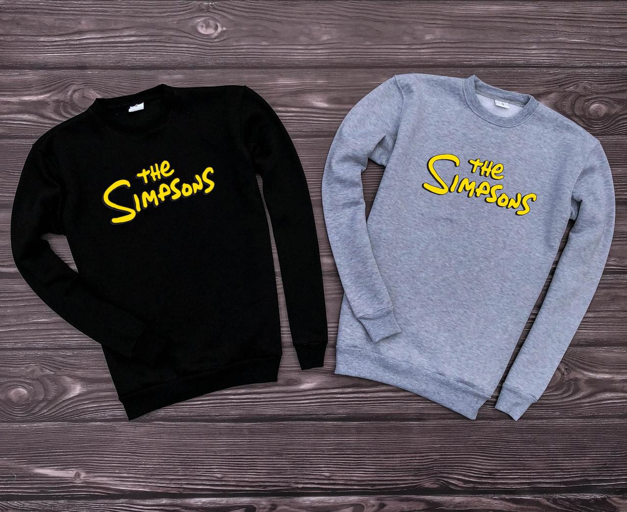 Мужская кофта - Свитшоты The Simpsons черный, серый (утеплен)