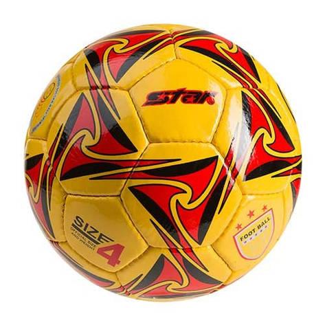 Мяч футбольный №4 Ronex Star желто-красный RXDY/ST, фото 2
