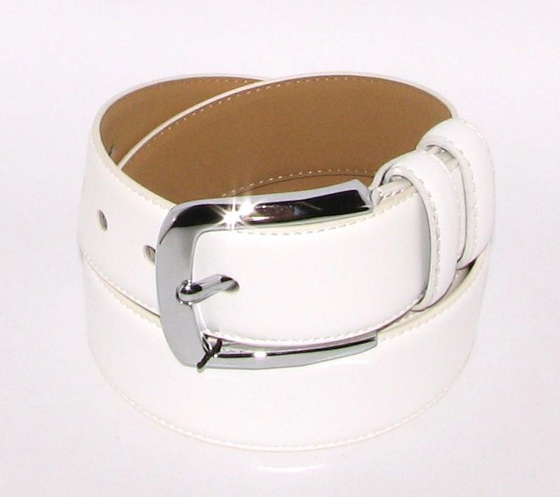 Ремень брючный шириной 4 см Alon E400615 110 см унисекс Белый
