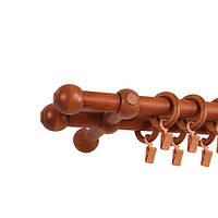 Карниз Mardom деревянный Прато Нью двойной черешня 25/25 мм 300 см (75874)