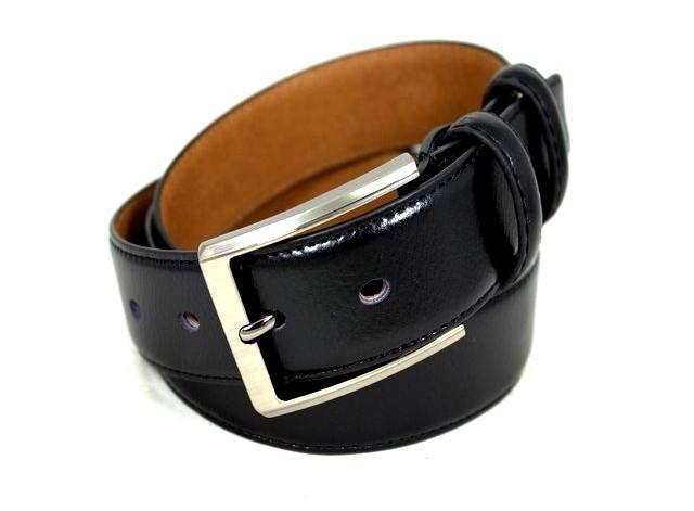 Ремень кожаный шириной 3,5 см Alon E352267 120 см унисекс черный