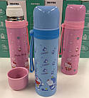 Вакуумный детский термос из нержавеющей стали Benson BN-54 500 мл | Розовый, фото 3