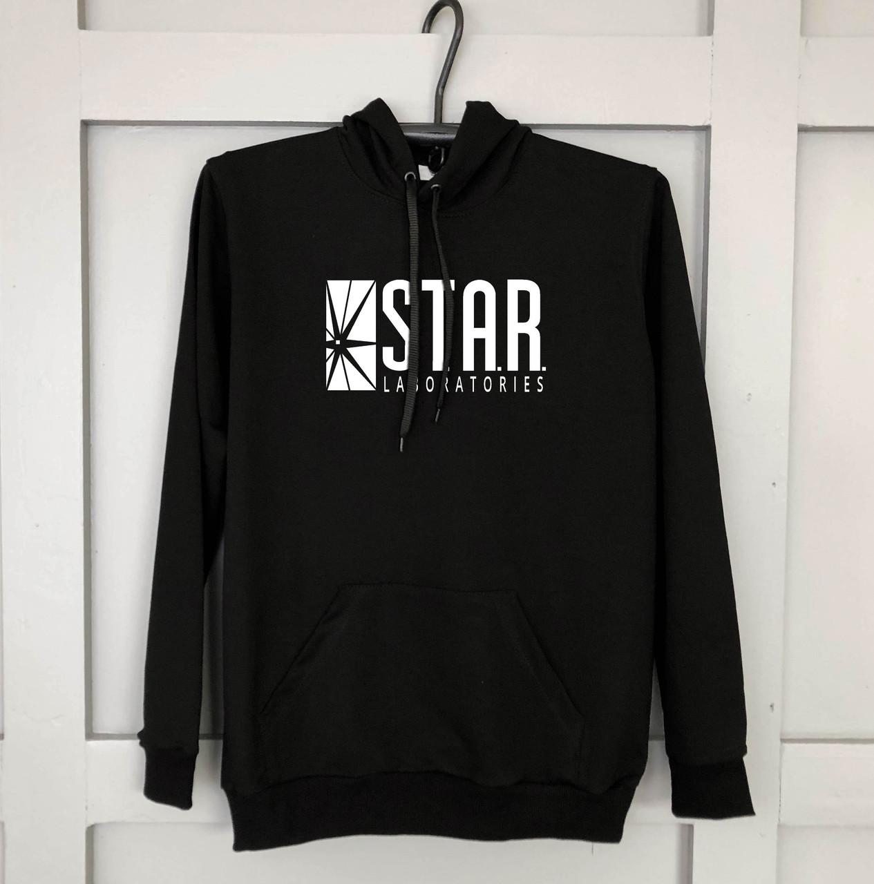 Мужская кофта - Кенгуру STAR черный