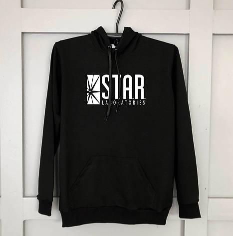 Мужская кофта - Кенгуру STAR черный, фото 2