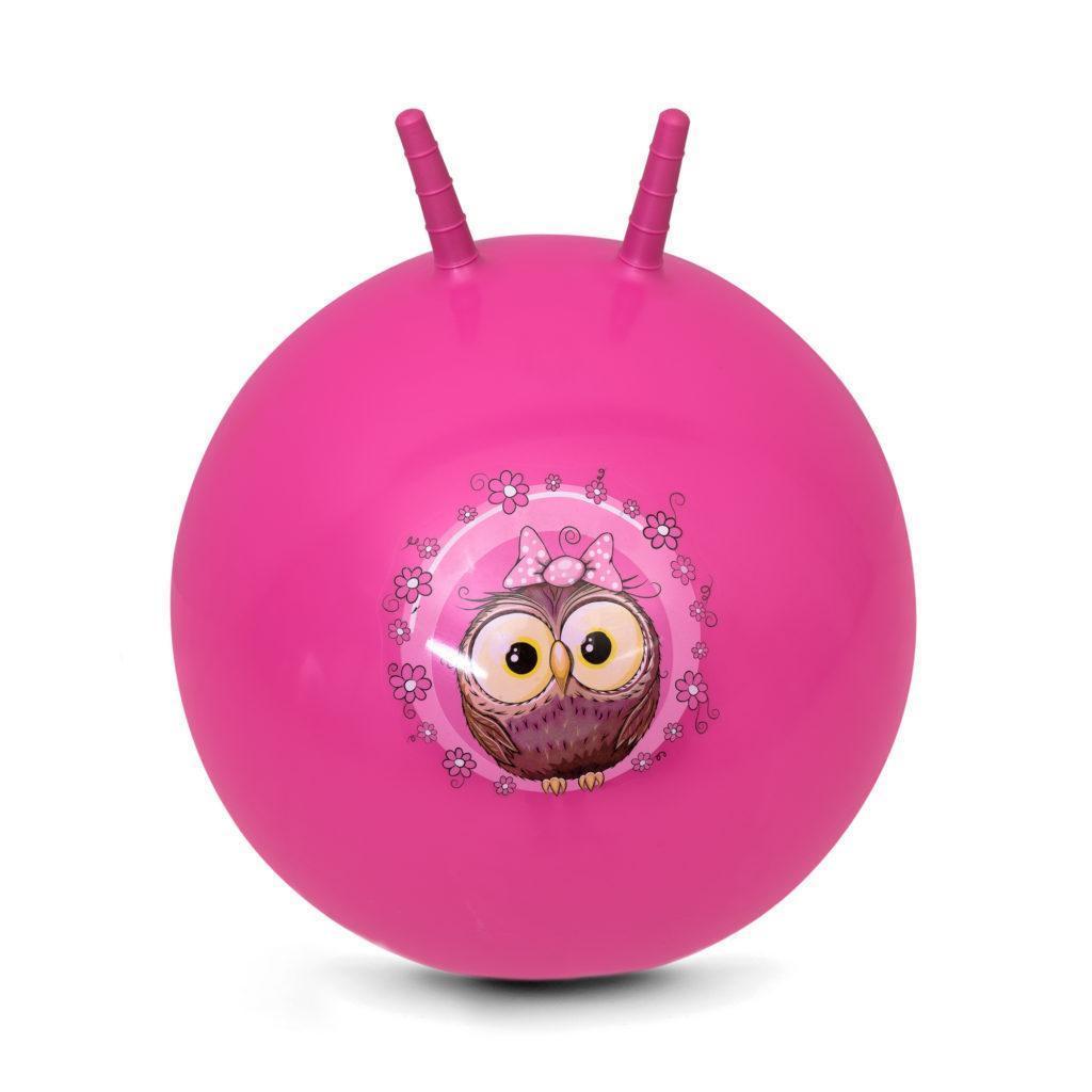 Мяч-прыгун детский с рожками Spokey Little Owl 60 см детский фитбол, гимнастический мяч для фитнеса