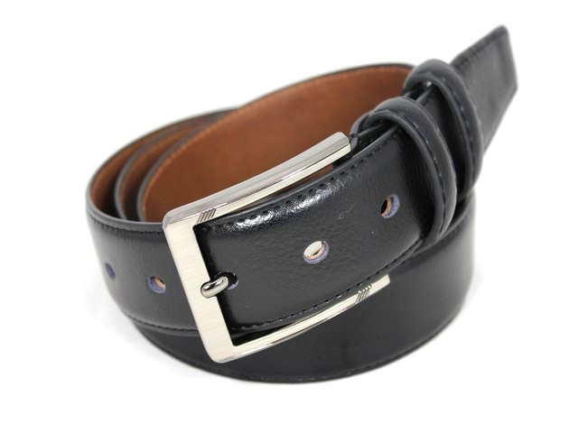 Ремень кожаный шириной 3,5 см Alon E352200 120 см мужской, женский черный