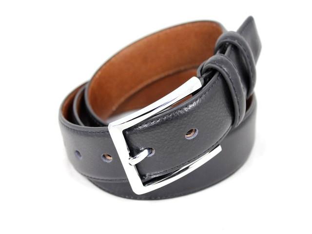 Ремень кожаный шириной 3,5 см Alon E352121 115 см мужской, женский черный